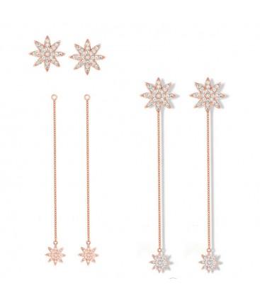 Nova Detachable Chain Earrings Rose Gold