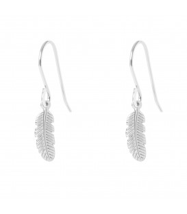 Muru Feather hook earrings