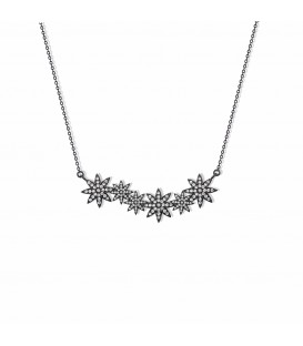 Vixi Nova Star Bar Necklace Black