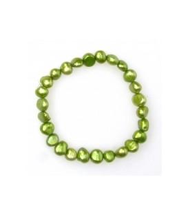 Pale Green Elastic Pearl Bracelet