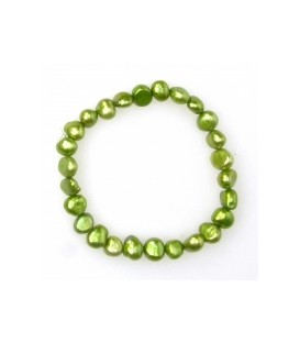 Green Elastic Pearl Bracelet