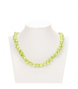Potato Pearl Necklace Pale Green