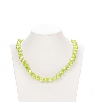 Potato Pearl Necklace Pale Green
