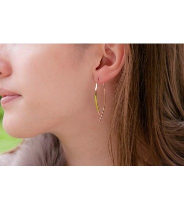 Boho Betty McAdams Rose Gold Bar Earrings