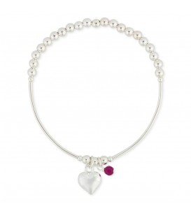 Clementine Heart Stretch Bracelet