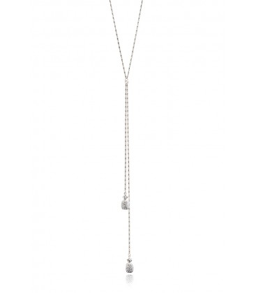 Pineapple Lariat Silver