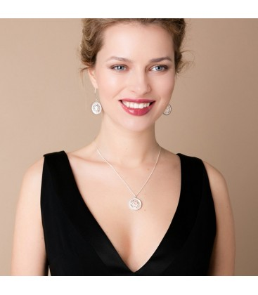 Oriental Sea Earrings White MOP
