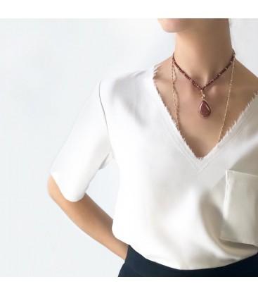 Bcharmd Sera Caramel Sandstone Necklace
