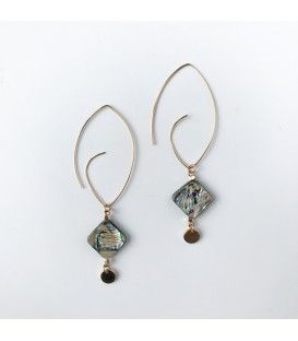 Bcharmd Jayne abalone seashell statement earrings