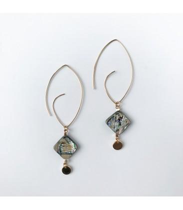 Bcharmd Jayne abalone seashell statement earrings