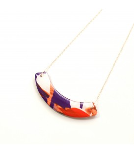 Jojo Blue Curve Autumn Gold Necklace