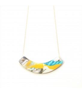 Jojo Blue Grey/Yellow/Turquiose Necklace
