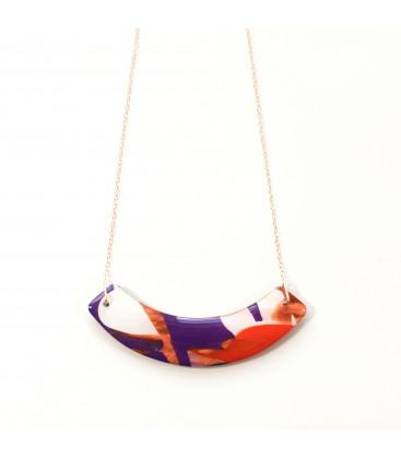 Jojo Blue Curve Autumn Gold Necklace