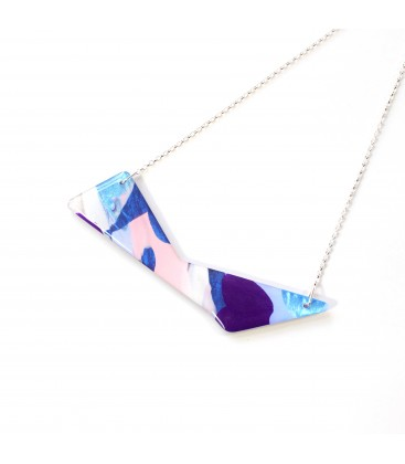 Jojo Blue 'Triangle' Purple Haze Necklace