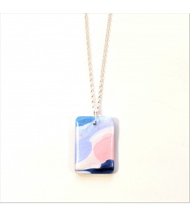 Jojo Blue Rectangle Purple Haze Pendant