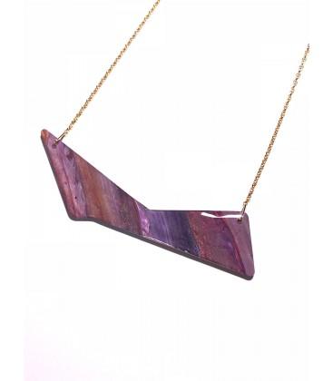 "Jojo Blue 'Triangle"" Autumn Gold Necklace"