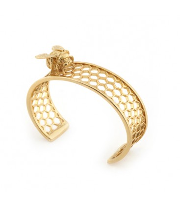 Bee Bangle Gold Cuff