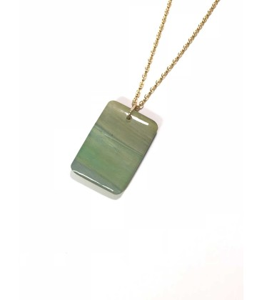 Jojo Blue Rectangle Bright Pendant