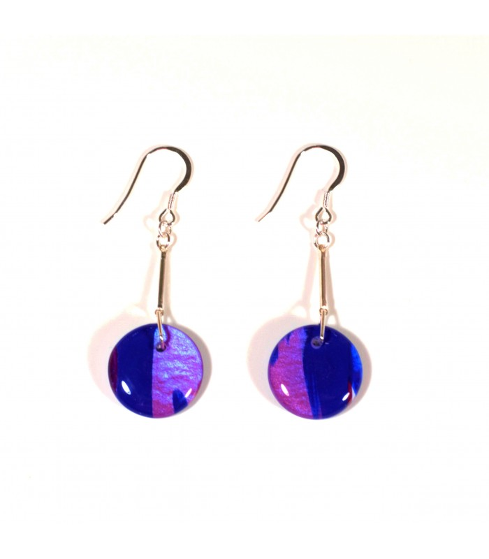 Jojo Blue Fuschia Earrings