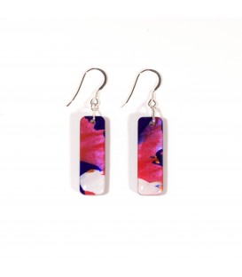 JoJo Blue Blue/Fuschia Earrings