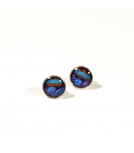 JoJo Blue Small Multi Stud Earrings