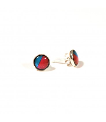JoJo Blue Small Pink/Turq Stud Earrings