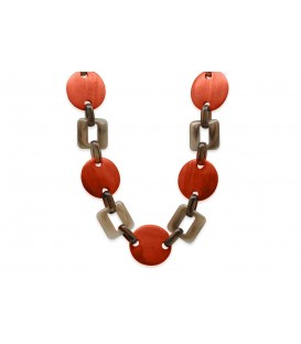 Boho Betty Themis Orange Linked Chain Necklace