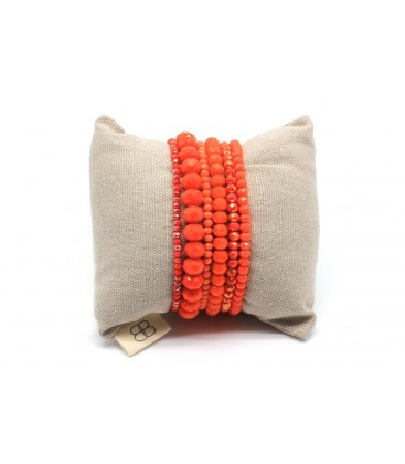 Boho Betty Quickstep Bracelet Stack, Orange
