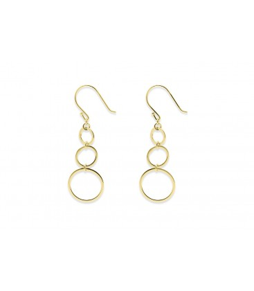 Boho Betty Lockwood 3 circle Earrings gold