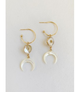 Bcharmd Jasmine Seashell Earrings Gold