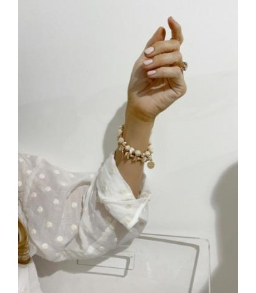 Bcharmd Abbey Seashell Bracelet Gold