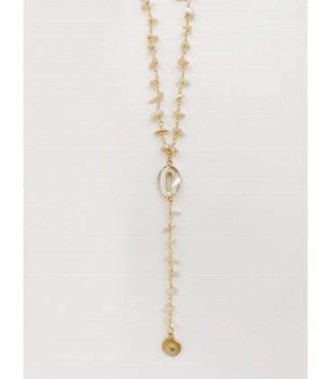 Bcharmd Dari Seashell Necklace Necklace Gold