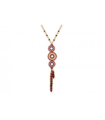 Boho Betty Hectate Pink Multi Beaded Necklace