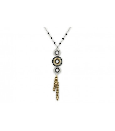 Boho Betty Hectate Silver Beaded Necklace
