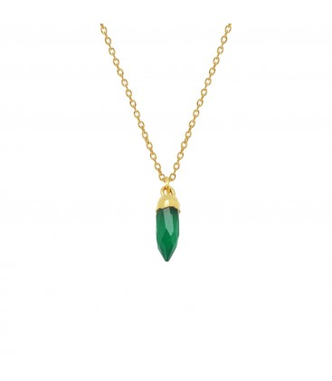 Mirabelle Mini Point Green Onyx Necklace