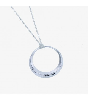 Saturn Pendant Silver