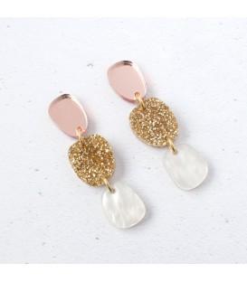 Lily Earrings - Gold Glitter