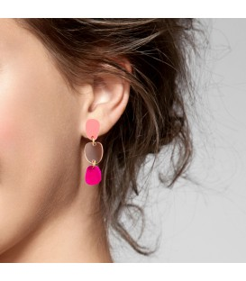 Lily Earrings - Fluo Pink