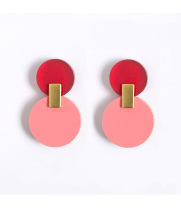 Daphne Earrings - Raspberry
