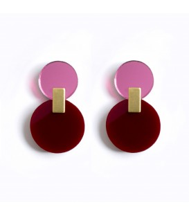 Daphne Earrings - Maroon