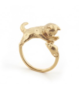 Bill Skinner Kitten & Mouse Ring