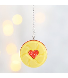 Acrylic Jammy Dodger Necklace