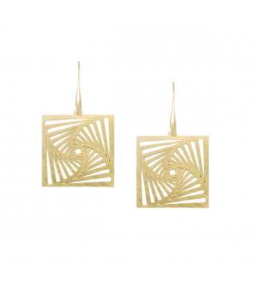 Geometric Square Earrings