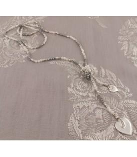 Eva Necklace in Silver & Grey