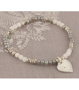 Eva Bracelet Silver & Grey