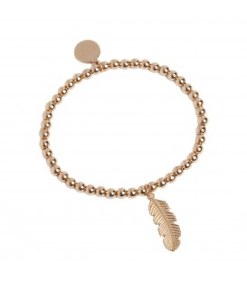 Feather Stretch Bracelet Rose Gold