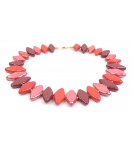 Domino Merlot Necklace