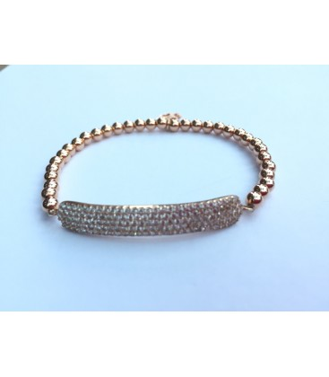Flat Crystal Bar Bracelet