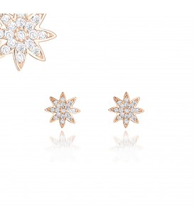 Vixi Nova Stud Earrings Rose