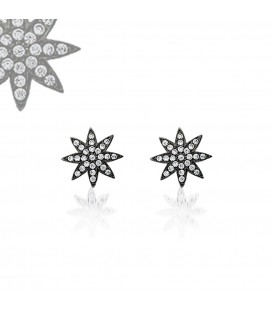Nova Stud Earrings Black